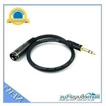 1.5ft Premier Series XLR Male to 1/4inch TRS Male 16AWG