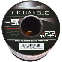 GLS Audio Premium 12 Gauge 25 Feet Speaker Wire - True 12AWG