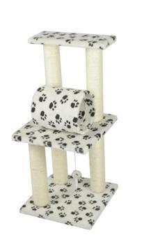 """New Premium Paw Print 34"""" CAT TREE CONDO FURNITURE"""