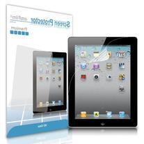 amFilm iPad 2 Screen Protector HD Clear for Apple iPad 4/3/2