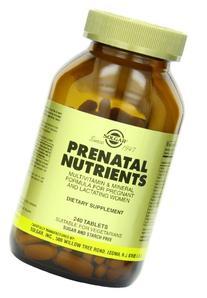 Solgar Prenatal Nutrients Tablets, 240 Count, 240 Count