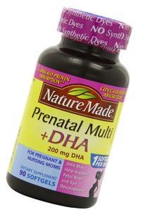 Nature Made PrenatalMulti + DHA 200 Mg  Softgels, Value Size