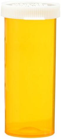 Prescription Vials with Snap Caps 8 Dram - 12 Per Bag