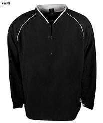 Mizuno Prestige G4 Long Sleeve Batting Jersey, Black, Small