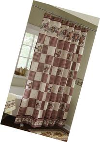 Primitive Hearts And Stars Country Shower Curtain