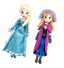 Disney Frozen Princess Elsa & Anna Doll Set Featuring 20""