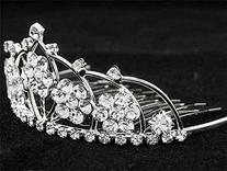 NEW PRINCESS HALLOWEEN COSTUME Crystal Tiara Comb H61