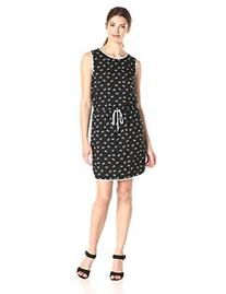 Women's Vince Camuto 'Palm Harmony' Print Tie Waist Dress,