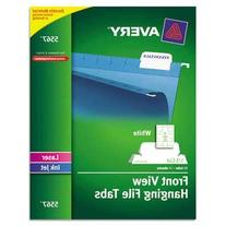 Avery Print/Write-On Hanging Tabs, 1/5 Tab, 2 1/16 Inch,