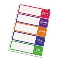 "* Printable Flexible Name Badge Labels, 1 x 3-3/4, ""Hello"","