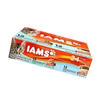 IAMS Pate Adult Wet Cat Food, Variety Pack Salmon & Ocean