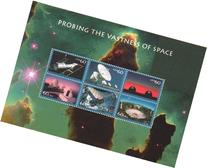 Probing the Vastness of Space Sheet of Six 60 Cent Stamps