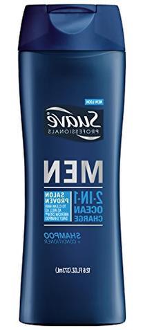 Suave Professionals Men 2-in-1 Shampoo + Conditioner, Ocean