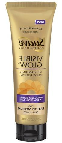 Suave Professionals Visible Glow Self-Tanning Body Lotion,