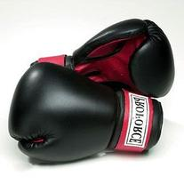 ProForce Leatherette Boxing Gloves Black w/Red Palm 8 oz