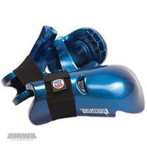 ProForce Lightning Punches Karate Sparring Gloves - Blue -