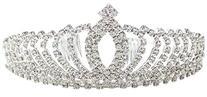 Simplicity Women's Prom Queen Crystal Rhinestones Crown