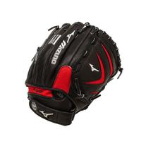 "Mizuno Prospect Leather Ball Glove, Red/Black, 11.5"", Left"
