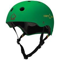 PROTEC Original Classic Helmet, Matte Rasta Green, Medium