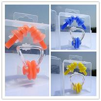 3PCS Adults Protector for Swimming Silicone Ear Plugs + Nose