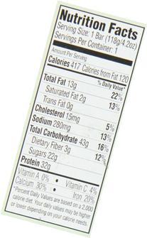 Tri-O-Plex High Protein Food Bar, Caramel Apple, 12 Count, 4