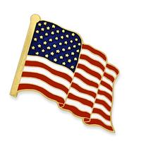 PinMart's Proudly Made in USA American Flag Enamel Lapel Pin