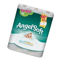 Angel Soft PS 24 Roll Bathroom Tissue - 2 Ply - 195 Sheets/
