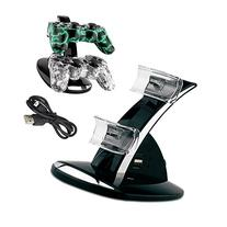 PS3 Charger,YANX LED Dual Controller Charger Dock Station
