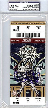 Ichiro Suzuki Signed 2002 All Star Game Ticket - PSA/DNA