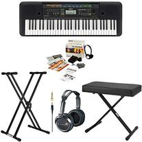 Yamaha PSRE253 61-Key Portable Keyboard Bundle with Knox