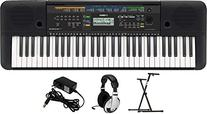 Yamaha PSRE253 Portable Keyboard with Headphones, Power