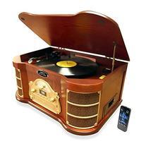 Pyle PTCD54UB Bluetooth Vintage Classic Style Turntable