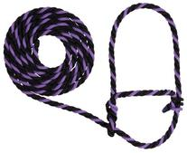 Weaver Leather Rope Cow Halter, Purple Jazz/Black