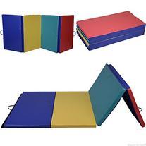"4'x8'x2"" Pu Gymnastics Mat Gym Folding Panel Exercise"