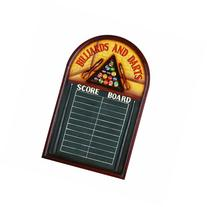 "RAM Gameroom Products Pub Sign with Scoreboard, ""Billiards"