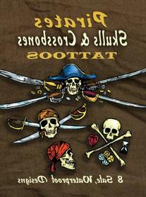 Dover Publications-Pirates Skulls & Crossbones Tattoos