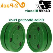 "Green Biscuit ""SNIPE"" Shooting Puck - 2 Pack"