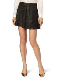 BCBGeneration Women's Pull Up Circle Skirt, Black/Gold,
