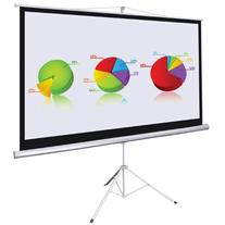 """Manual Pull Down Projection Screen 100"""" 16:9 White Steel"""