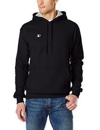 Champion Men's Pullover Eco Fleece Hoodie, Black, Large