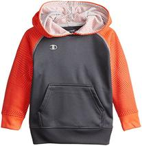 Champion  Little Boys' Pullover Hoodie, Fiery Coral Print/