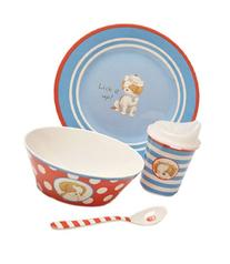 Bunnies By The Bay Puppy Dish Set, Lick It Up