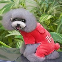 Urparcel Puppy Pet Small Dog Fleece Hoodie Coat Bone