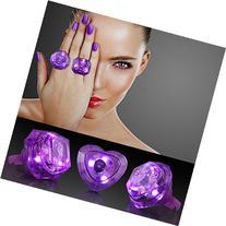 Purple Huge Gem Light Up LED Rings