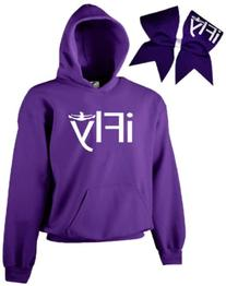 Chosen Bows Purple iFly Cheer ComBow, White Print, Youth