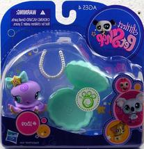 Littlest Pet Shop Purple Octopus  With Clam And Pearl Necklace Action Figure