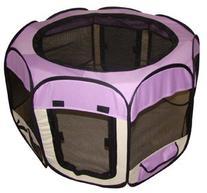 Purple Pet Dog Cat Tent Puppy Playpen Exercise Pen M by