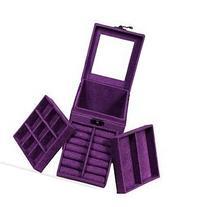 KLOUD City Purple Three-layer Lint Jewelry Box / Organizer