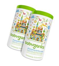 Babyganics All Purpose Surface Wipes, Fragrance Free, 150