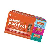 IAMS PURRFECT DELIGHTS Flaked Adult Wet Cat Food, Variety